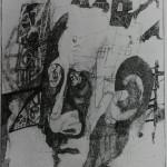 "3. Гурвич Борис ""Голова"" 1925 Бумага, карандаш, уголь 18х13,2 Государственный Русский музей"