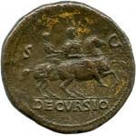 Нерон (54–68). Сестерций. Монетный двор Лугдунума. Бронза. 64–66.