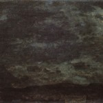 """5. Чернецов Г.Г. """"Пейзаж при луне. Гостилицы"""" 1828 Бумага на холсте, масло 14.3х27 Государственный Русский музей"""