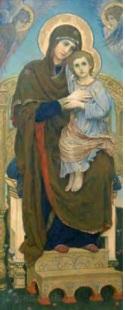 "Виктор Васнецов ""Богоматерь с младенцем"" 1901. ГРМ"