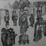 """6. Гурвич Борис """"Спокойно, снимаю!"""" Около 1928 Бумага, тушь 17х15,5 Государственный Русский музей"""