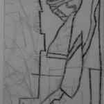 "8. Гурвич Борис ""Глаз и нос"" 1925-1926 Бумага, карандаш 14,8х5,2 Государственный Русский музей"