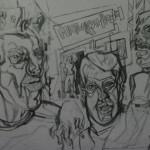 "9. Гурвич Борис ""Матюкайнен"" 1926 Бумага, карандаш, акварель 13,5х18,5 Государственный Русский музей"