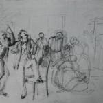 """9. Федотов Павел """"После свадьбы"""" 1848 Бумага, графитный карандаш Государственный Русский музей"""