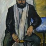 """11. Телепнев Владимир """"Мужской портрет"""" 1972 Оргалит, масло 121,5х92,5"""