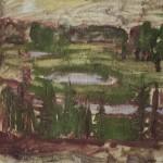 """12. Чернышев Борис """"Озёра в лесу"""" 1962-1963 Бумага, темпера 51х60,9"""
