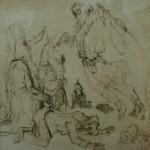 "14. Гурвич Борис ""Лубок"" 1929 Бумага, свинцовый карандаш 40х41"