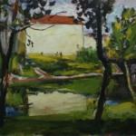 """14. Телепнев Владимир """"Река Трубеж"""" 1970 Холст, масло 80х99,2"""