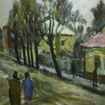 """18. Телепнев Владимир """"Весна в Тарусе"""" 1973 Холст, масло 88,5х68"""