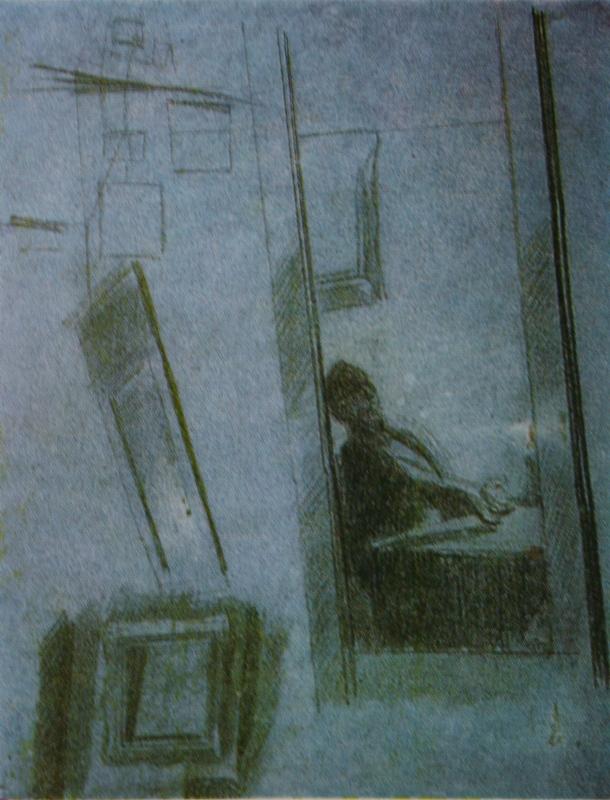 """19. Федотов Павел """"Игрок, сидящий за столом (отражение в зеркале). Этюд к картине """"Игроки"""" 1851 Бумага, сепия, итальянский карандаш 38,6х30,2 Государственный Русский музей"""