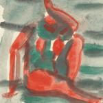 """25. Чернышев Борис """"Модель. Серия 98"""" 1966 Бумага, темпера 20,3х14,3"""