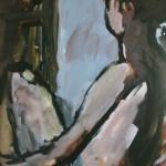 """25. Телепнев Владимир """"Серия """"Обнаженные"""". №77"""" 1966-1980 Бумага, акварель 59,2х42"""