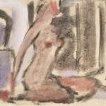 """29. Чернышев Борис """"Ню. Серия 79"""" 1965 Бумага, темпера 20,9х30,1"""
