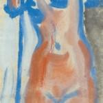 """33. Чернышев Борис """"Модель. Серия 56"""" 1965 Бумага, темпера 41,4х21,1"""