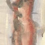 """34. Чернышев Борис """"Модель. Серия 92"""" 1966 Бумага, темпера 40,6х20,6"""