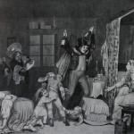 """36. Федотов Павел """"Крестины"""" 1847 Бумага, тушь 26,8х31,9 Государственный Русский музей"""