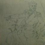 """20. Тропинин Василий """"Портрет П.И.Багратиона. Эскиз"""" Около 1816 Бумага, графитный карандаш 33х22 Музей В.А.Тропинина и московских художников его времени"""
