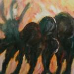 "9. Лозовой Николай ""Формообразование"" 1961 Бумага, масло 30,7х43,1"