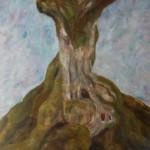 "14. Лозовой Николай ""Корни дерева"" 1963 Картон, масло 48,6х40,7"