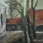 """16. Игорь Поляков """"Пейзаж"""" 1930-е Фанера, масло 45х32,9"""