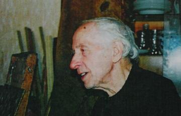 Абрам Моносзон. В мастерской. 2000 год.