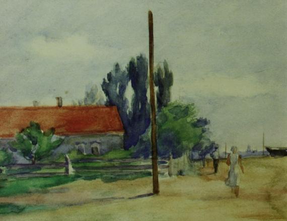 """Игорь Поляков """"Бердянск. Пейзаж"""" (фрагмент). 1939"""