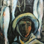 "1. Евгений Расторгуев ""Рыбак Сумского Посада"" 1965 Холст, масло 65х62"