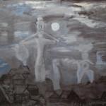 "7. Евгений Расторгуев ""Ночь над Городцом"" 1972 Холст, масло 79х104"
