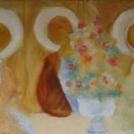 """8. Евгений Расторгуев """"На смерть моей матери"""" 1972 Холст, масло 65х100"""