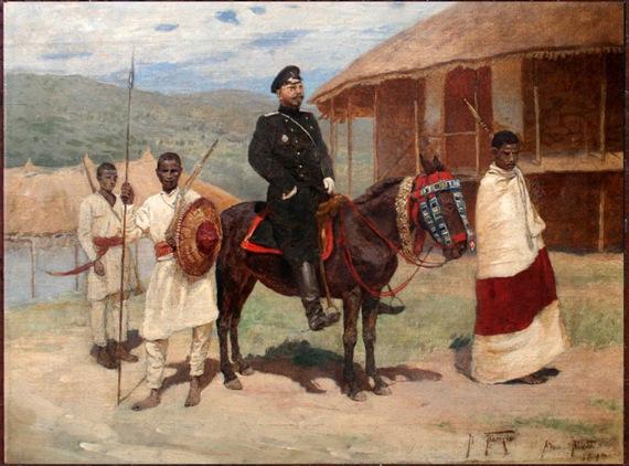 "Владимир Васильевич Поляков ""Адис-Абеба"" 1898 Холст, масло, 37х49"