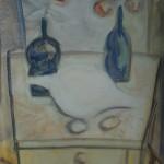 """14. Евгений Расторгуев """"Натюрморт с большой раковиной"""" 1980 Холст, масло 80х60"""