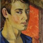 """Николай Русаков """"Автопортрет в синей рубахе. Август"""" 1919"""