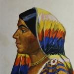 """Николай Русаков """"Индийская женщина. Поэтесса Тароджини Наиду"""" 1920-е"""