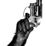 """Альберт Уотсон """"Обезьяна с пистолетом"""" Нью-Йорк. 1992"""