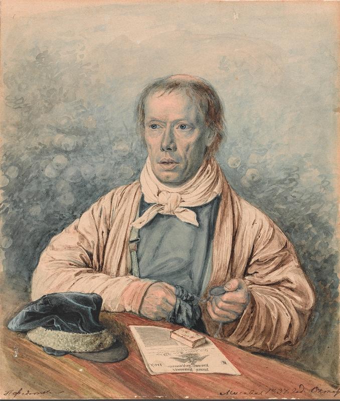 """Павел Федотов """"Портрет отца художника (А.И.Федотова)"""" 1837"""