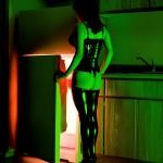 """Альберт Уотсон """"Брианна перед холодильником"""" Отель сети «Budget Suites», Лас-Вегас. 2000"""