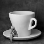 """Альберт Уотсон """"Кармен с чашкой и блюдцем"""" Нью-Йорк Сити. 1996"""