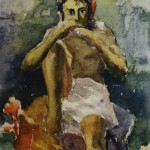 "Николай Русаков ""Играющий на дудке"" 1916(?)"