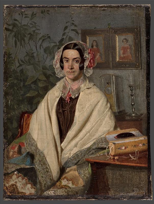 """Павел Федотов """"Портрет Ольги Петровны Жданович"""" 1846–1847"""
