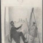 """Павел Федотов """"Художник, пишущий портрет"""" 1849–1851"""