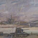 """Александр Лабас """"Танки идут на фронт"""" 1941"""