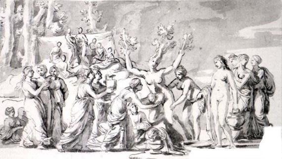 Никола Пуссен «Царство Флоры» Виндзор, Королевская библиотека