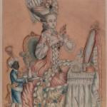 """Неизвестный художник второй половины XVIII века """"За туалетом. Дама с арапчонком"""" 1770-е"""