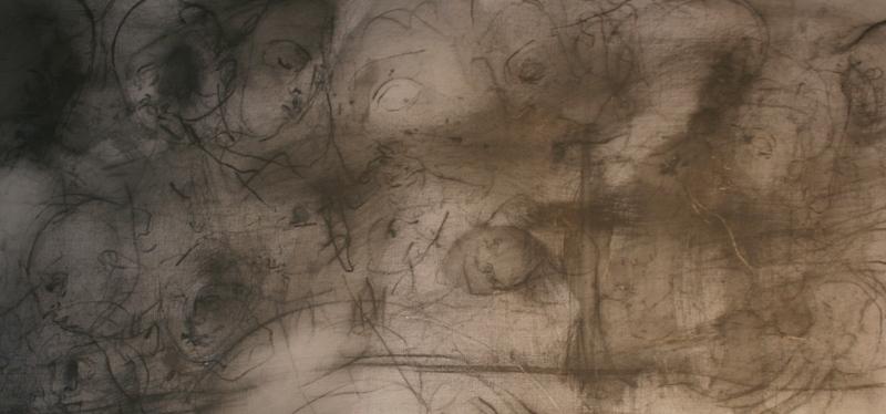 """Михаил Тихонов """"Цезарю - цезарево (по Тициану)"""" 2015 (фрагмент)"""