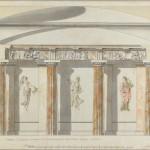 """Камерон Ч. """"Проект внутренней отделки Большого кабинета во дворце в Павловске"""" Начало 1780-х"""
