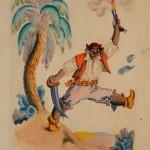 """Владимир Конашевич """"Иллюстрация к сказке К.И.Чуковского """"Бармалей"""" 1960"""