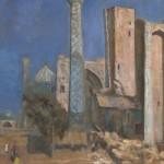 """Сергей Герасимов """"Пейзаж с мечетью"""" 1940-е"""