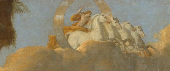 """Никола Пуссен """"Царство Флоры"""" (фрагмент) - Аполлон на колеснице"""