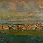 """Георгий Якулов """"Скачки"""" 1911"""