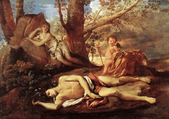 Никола Пуссен «Нарцисс и Эхо» Лувр, Париж
